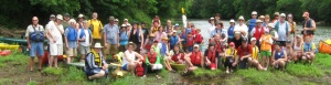 Nearly 70 people participated in CRBI's Family Paddle down the Etowah River June 13.